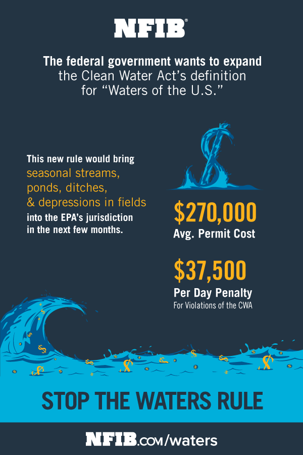 Waters of the US - NFIB Infographic