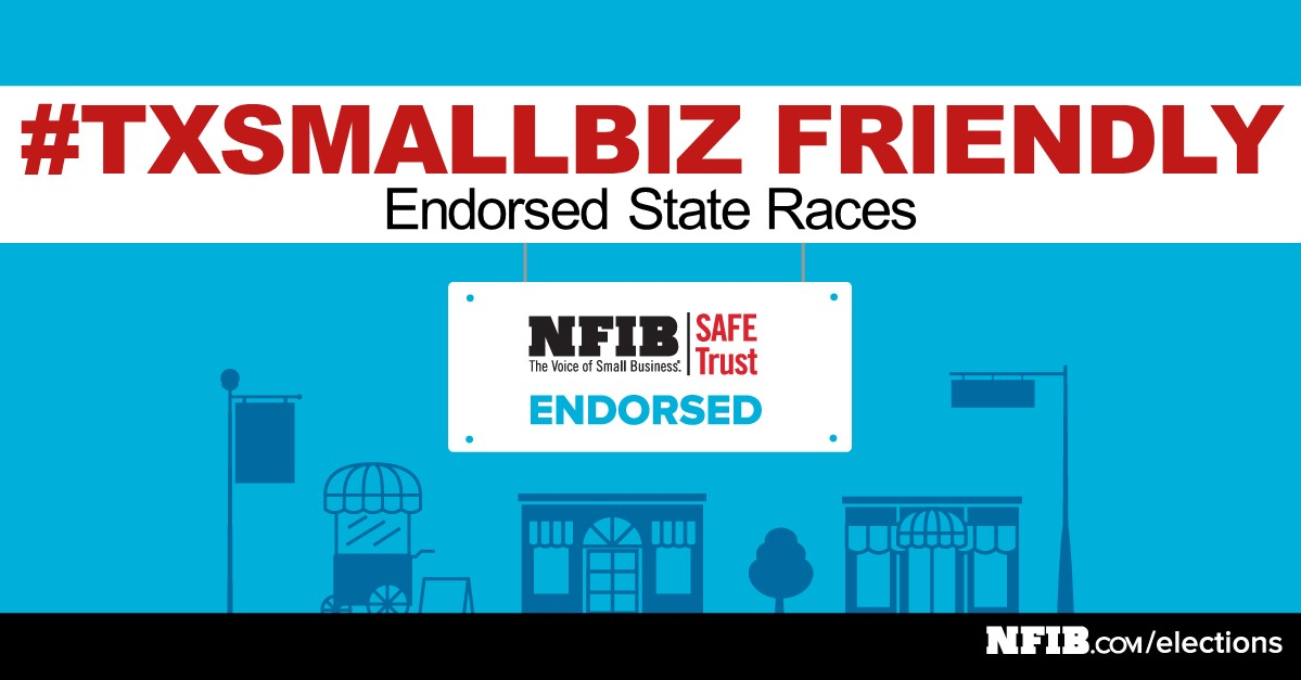 SMALL BUSINESS ENDORSES CANDIDATES FOR STATE RACES