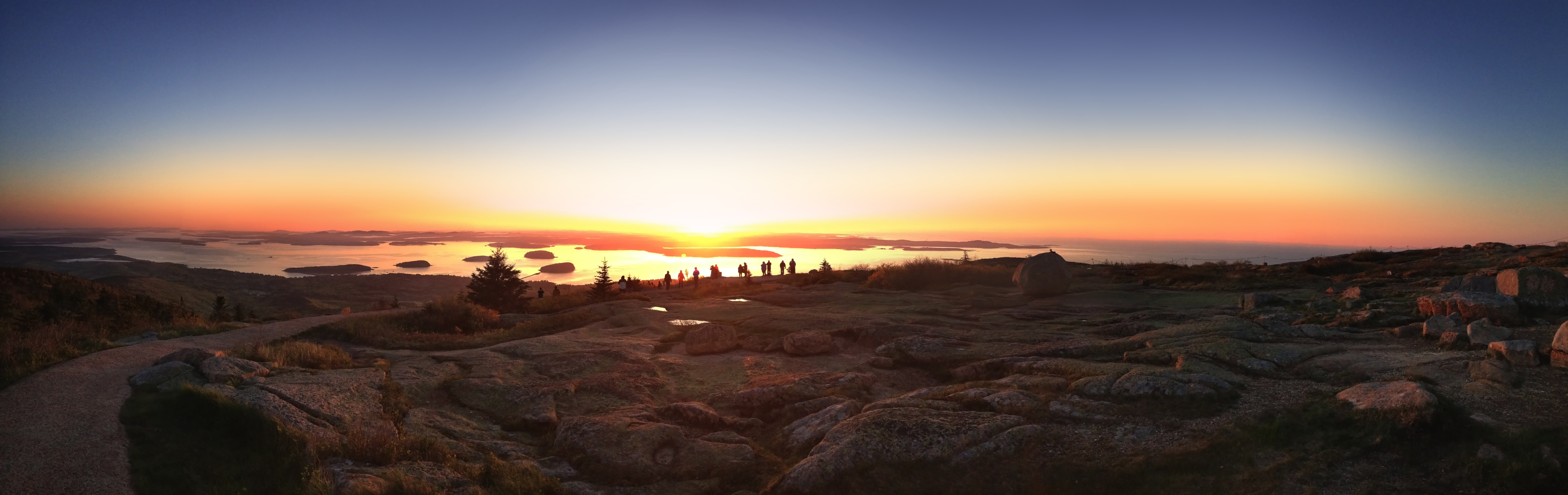 Sunrise from Cadillac Mountain. Credit: Bar Harbor Chamber of Commerce