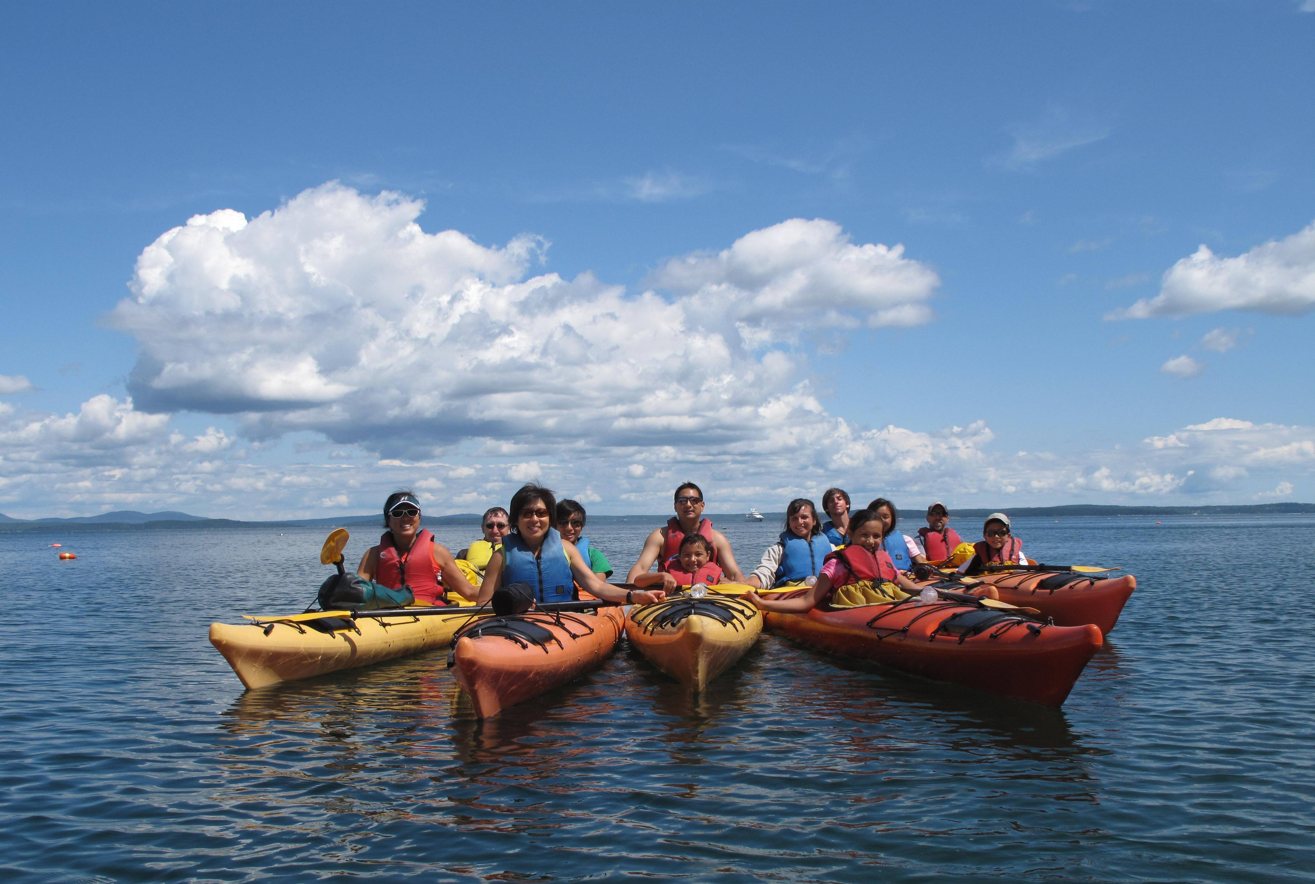 Grab a kayak and explore! Credit: Coastal Kayaking Tours