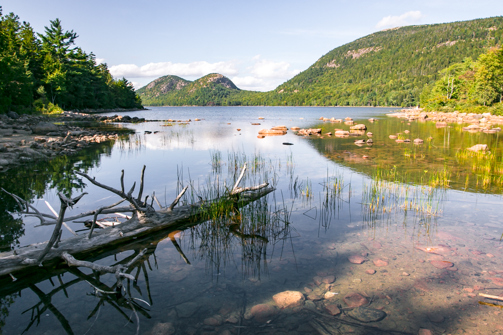 Jordan Pond, one of the many majestic scenic spots in Acadia National Park. Photo credit: Margo Paige, The Overseas Escape