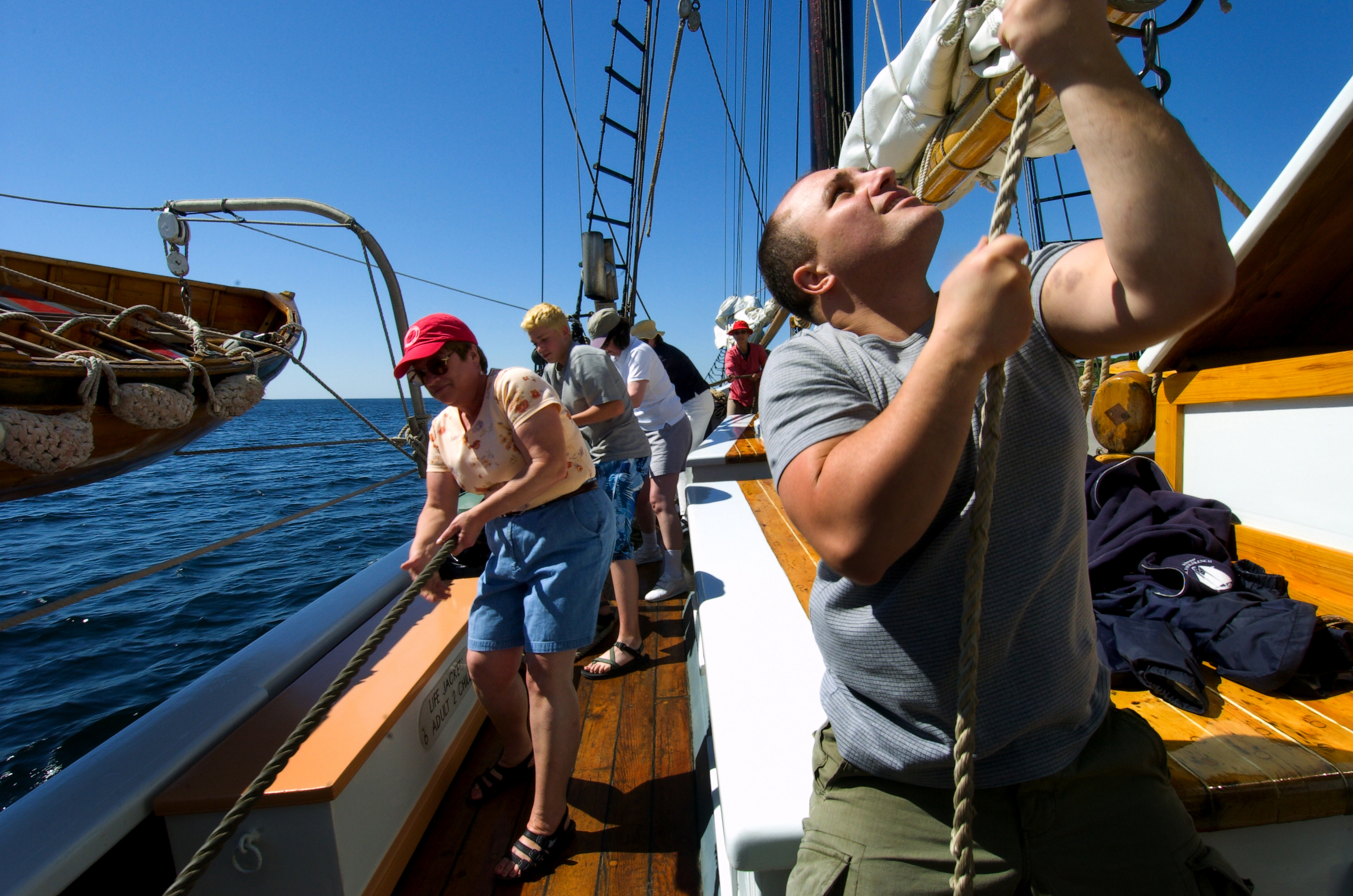 Sailing aboard the Lewis R French