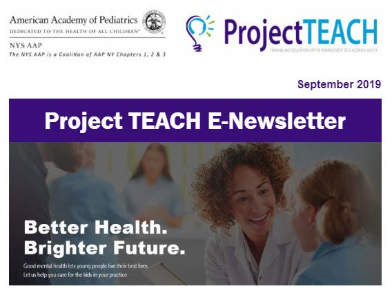 Project TEACH E-newsletter for September 2019