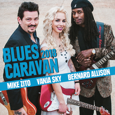 Mike Zito, Vanja Sky & Bernard Allison - Blues Caravan 2018 (CD+DVD)