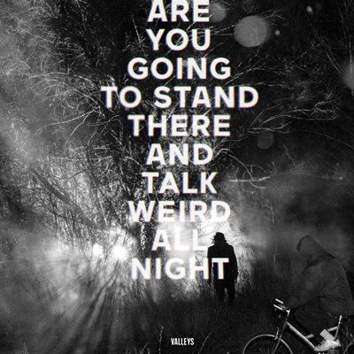 Are You Going To Stand There And Talk Weird All Night? by Valleys