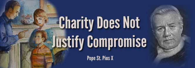 Header - Charity does not justify compromise