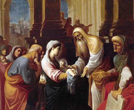 Image of the Presentation of the Christ Child in the Temple