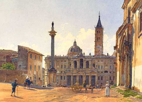 Painting of the Basilica of St Mary Major