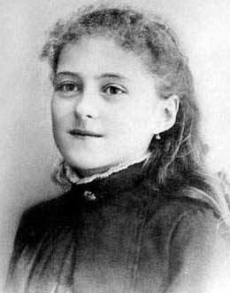 St. Thérèse of Lisieux as a young girl