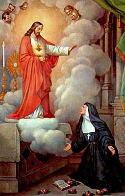 Our Lord appearing St. Margaret Mary Alacoque