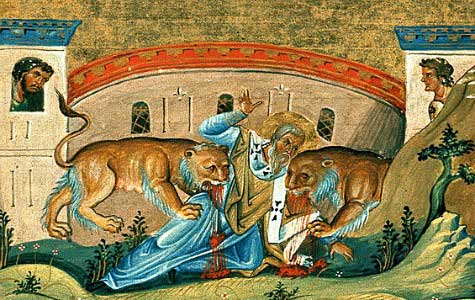 St. Ignatius of Antioch being devoured by lions