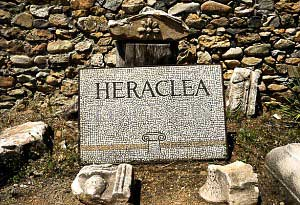 "Stone with the inscription ""Heraclea"""
