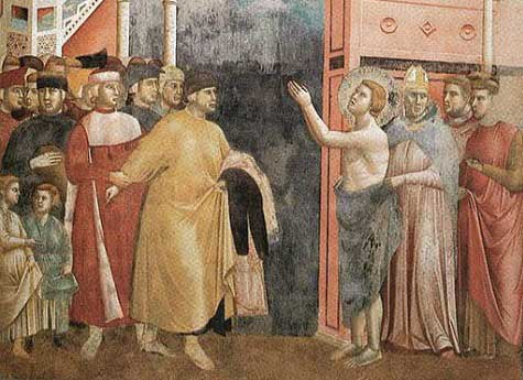 St. Francis of Assisi giving his father his clothes
