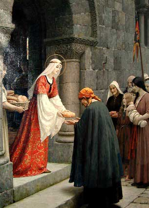 St. Elizabeth of Hungary feeding the poor