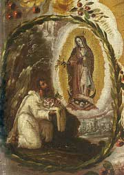 St Juan Diego and Our Lady of Guadalupe