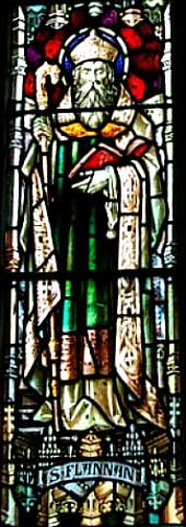 Stained Glass image of St. Flannan