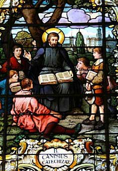 St. Peter Canisius teaching a group of boys