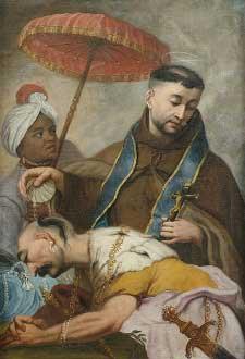 St. Francis Xavier baptizing a convert