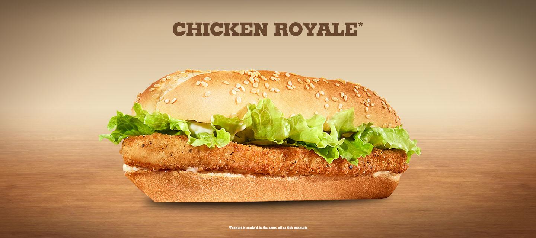 Burger King Chicken Royale Yemek Burger King Chicken