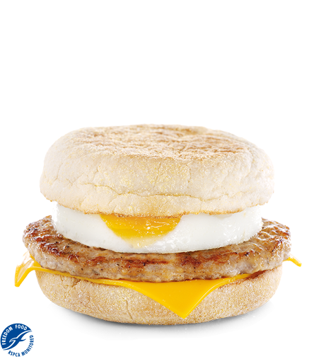 sausage egg and cheese mcmuffin calories