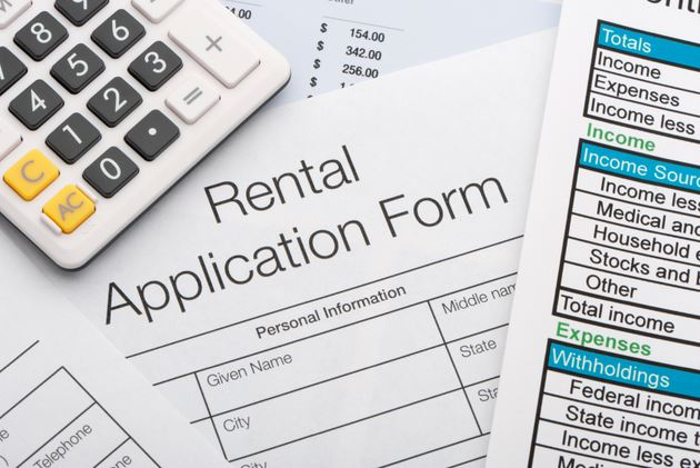 Rental Application  Page