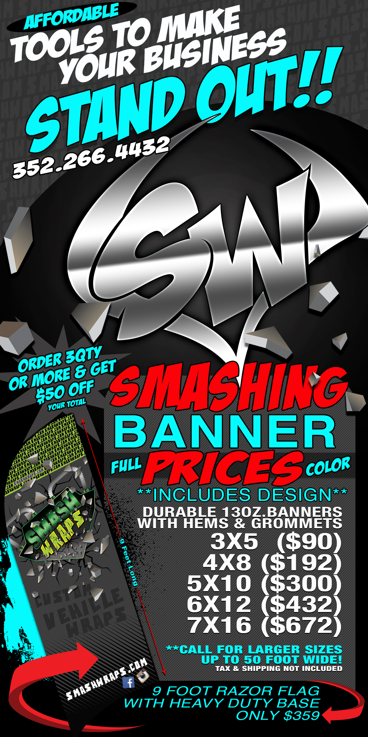 Banners smash wraps for Banner wrap