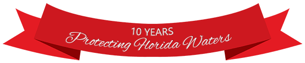 Paddle Florida banner stating their 10 Years Protecting Floridas Waters