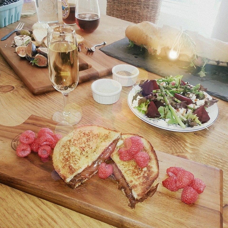 Brunch @ The Bistro; Nutella French Toast, Market Board and Hanger Steak Baguette Sandwich