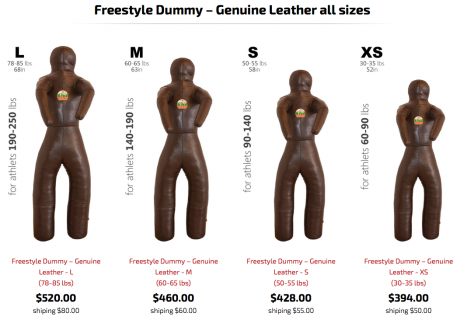 Freestyle All Leather Throwing Dummy Page