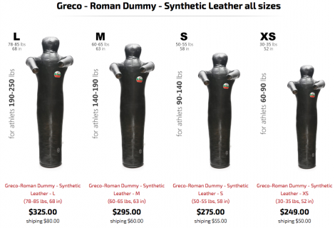 Greco All Leather Throwing Dummy Page