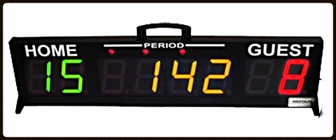 EDGE SS-2000 Tabletop Score Clock Page