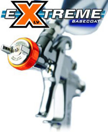 <a href=http://www.iwatausa.com/products/manual-hvlp-full-gravity.cfm?series=LPH400%2DLVX target=_blank>LPH400-LVX eXtreme basecoat </a>