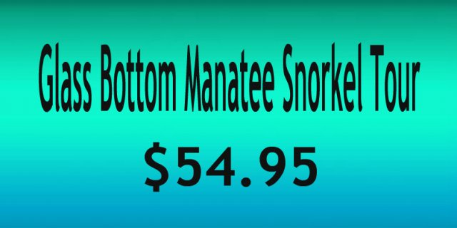 Glass Bottom Boat Manatee Snorkel Tour Page