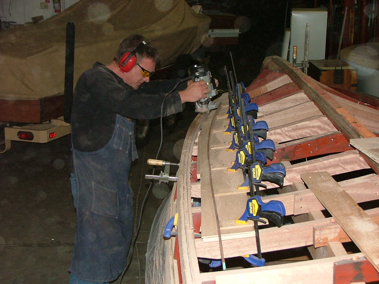 Cutting new chines for a Chris Craft runabout