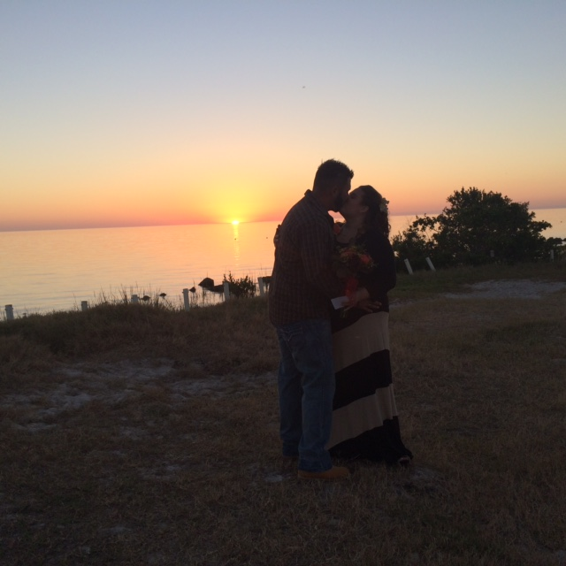 Sunset Wedding at Fort Island Beach