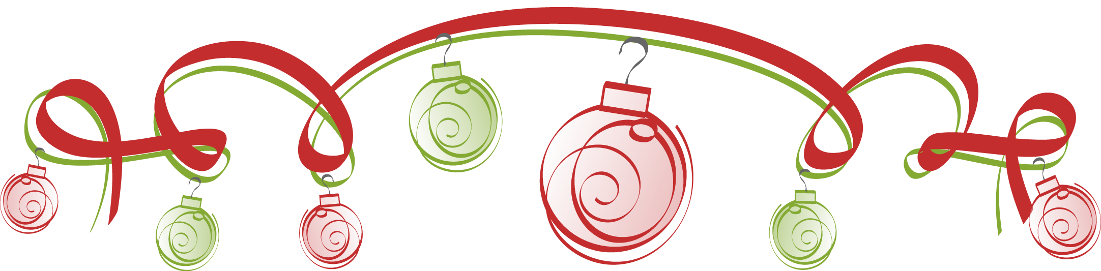 Holiday Ribbons and Ornaments