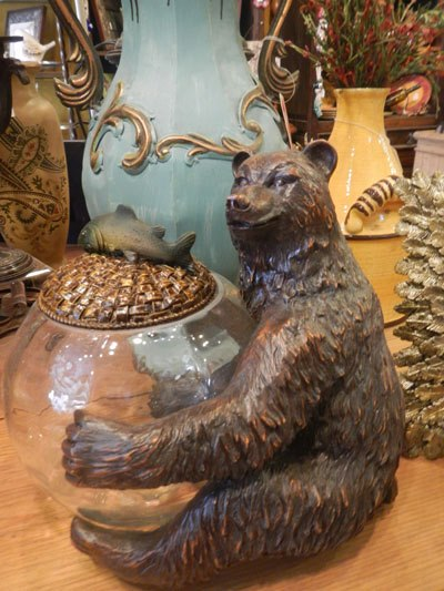 Bear Jar Holder
