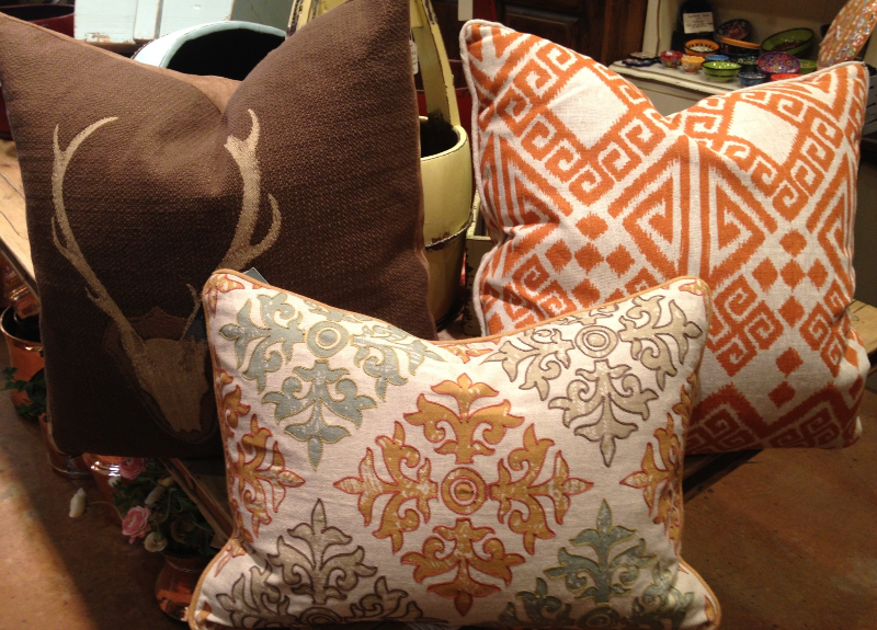 Linen and Down Pillows (Deer, Patterned, and Multicolored)