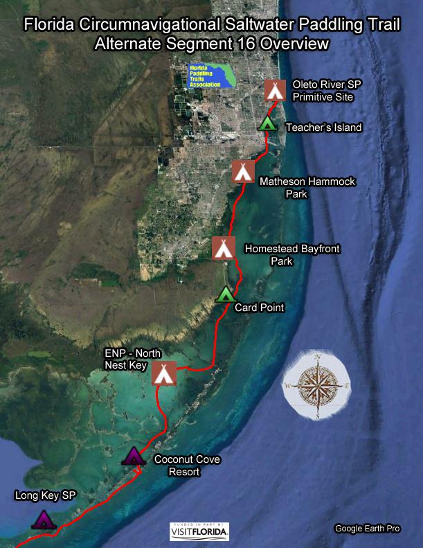 Coconut Cove Florida Map.Florida Saltwater Circumnavigation Paddling Trail