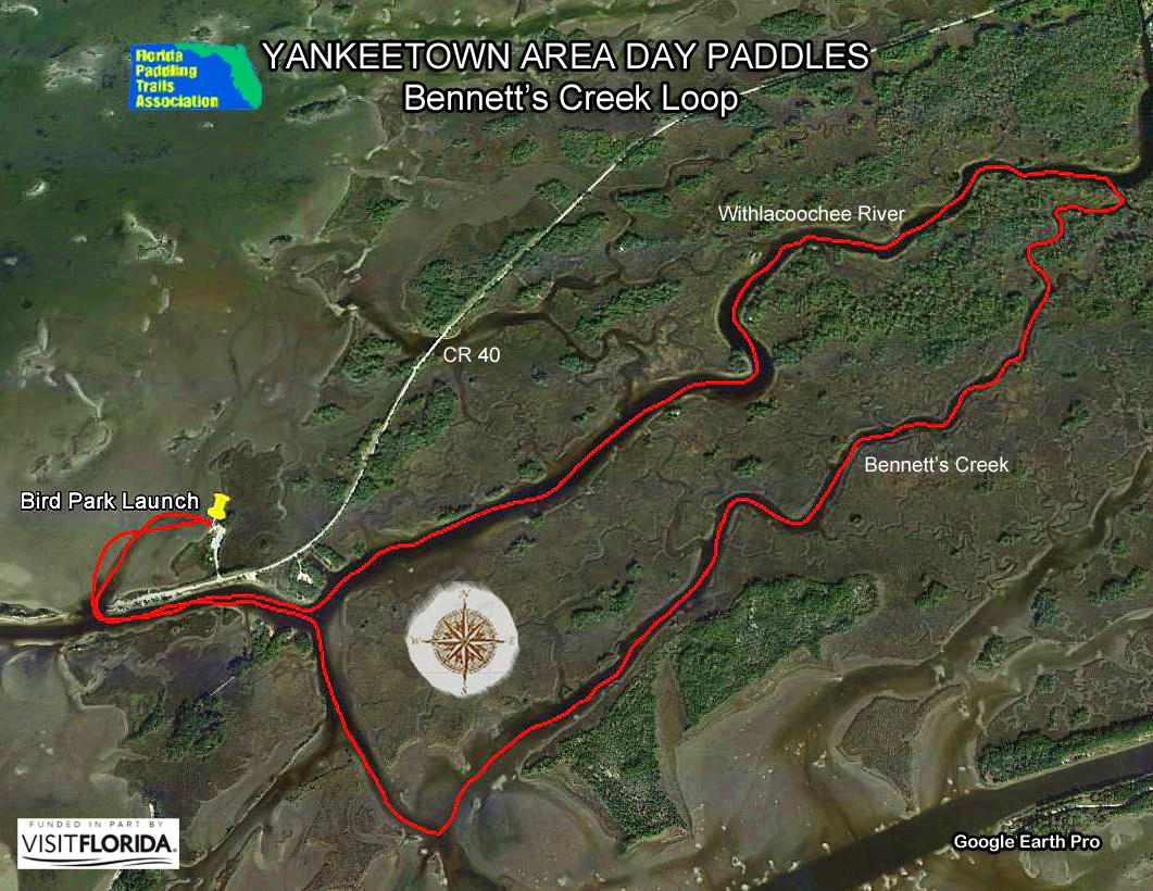 Florida Saltwater Circumnavigation Paddling Trail - Yankeetown florida map