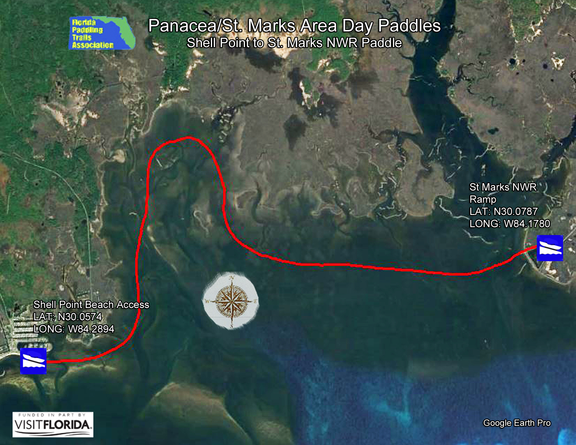 Shell Point Florida Map.Florida Saltwater Circumnavigation Paddling Trail