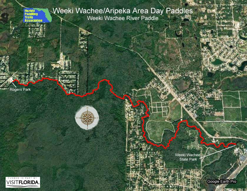 Weeki Wachee Florida Map.Florida Saltwater Circumnavigation Paddling Trail
