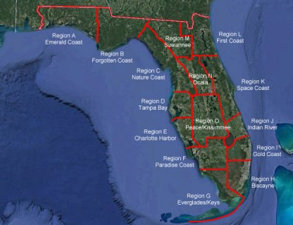 Map Of Florida Bays.Paddling Trails