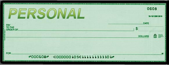 Personal Checks image