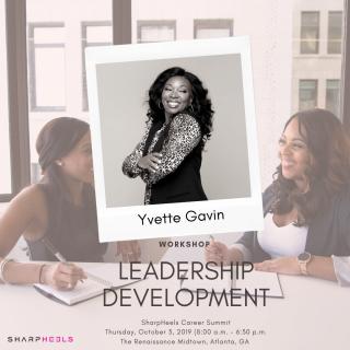 Yvette Gaving Workshop: Leadership Development 2019 Poster