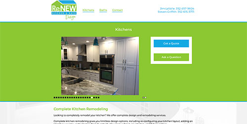 Renew Kitchens Page