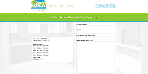 Renew Kitchen and Bath Contact Page