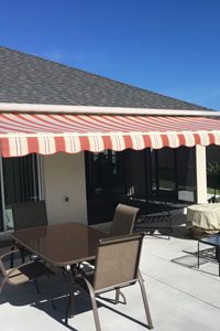 Awning on home