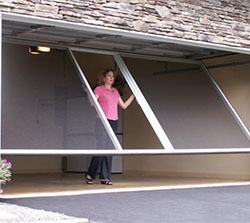 Flip-Up Garage Door Screen