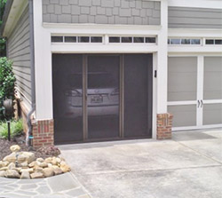 Breezy Brown SuperScreen for Garage Door